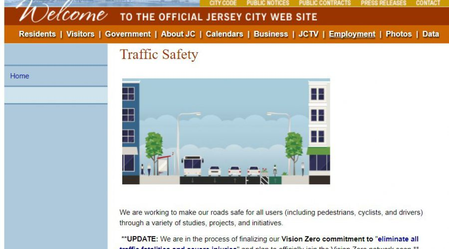 Jersey City Gov Launches Traffic Safety Commitments Webpage!