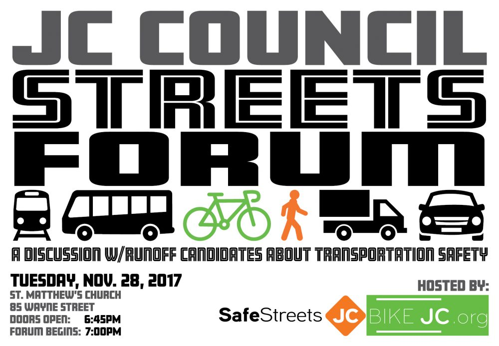 JOIN US! JC Council Streets Forum – Tues Nov. 28th!