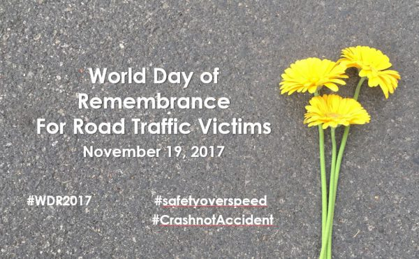 Nov. 19th, 3-4pm World Day of Remembrance for Road Traffic Victims